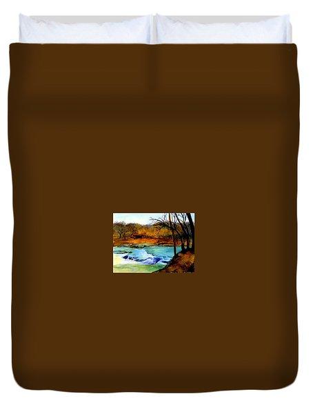 Fallsburg Ky Falls Duvet Cover by Gail Kirtz