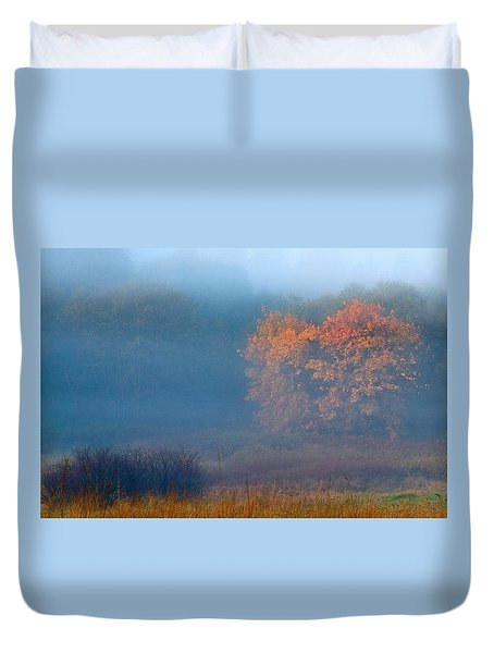 Duvet Cover featuring the photograph Falltime In The Meadow by Scott Holmes