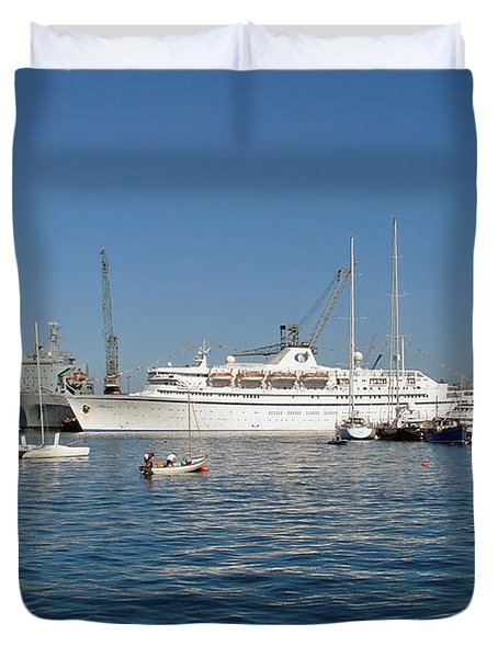 Falmouth Harbour Duvet Cover by Rod Johnson