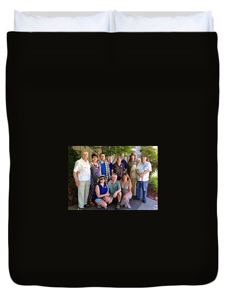 Family And Friends Reunion Duvet Cover