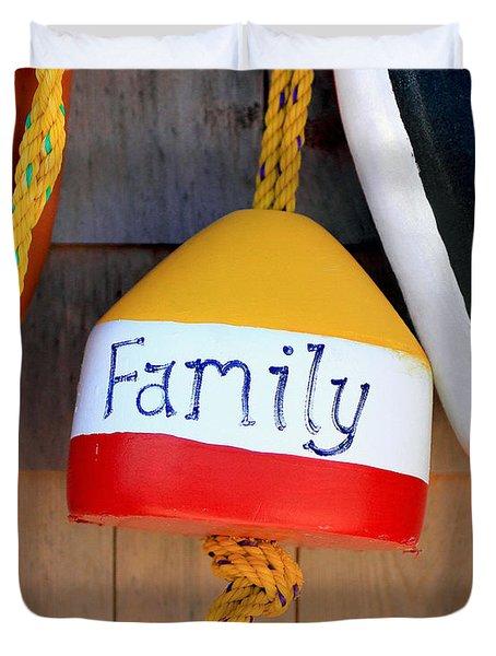 Family Buoy Duvet Cover