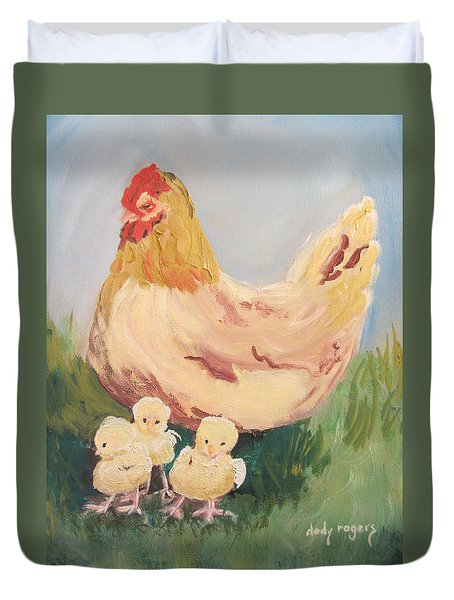 Family Gathering Duvet Cover