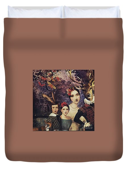 Family Portrait Duvet Cover
