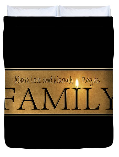Duvet Cover featuring the photograph Family by Robin-Lee Vieira