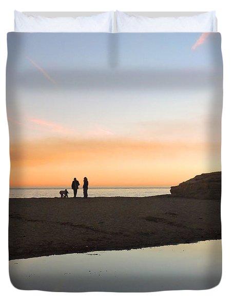 Family Sunset Duvet Cover