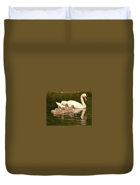 Family Swan  Duvet Cover