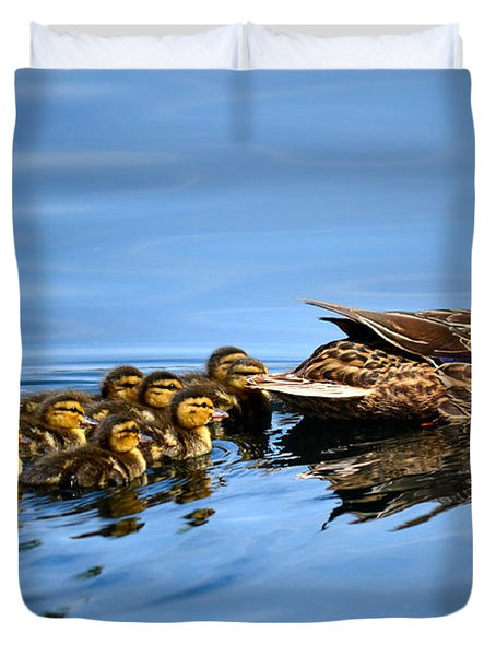 Family Swim Duvet Cover