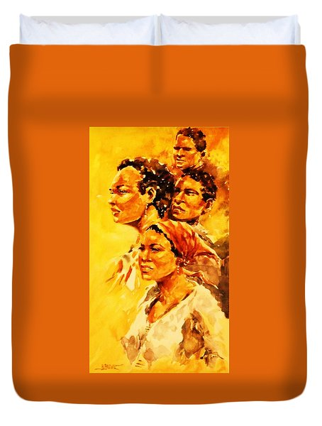 Family Ties Duvet Cover