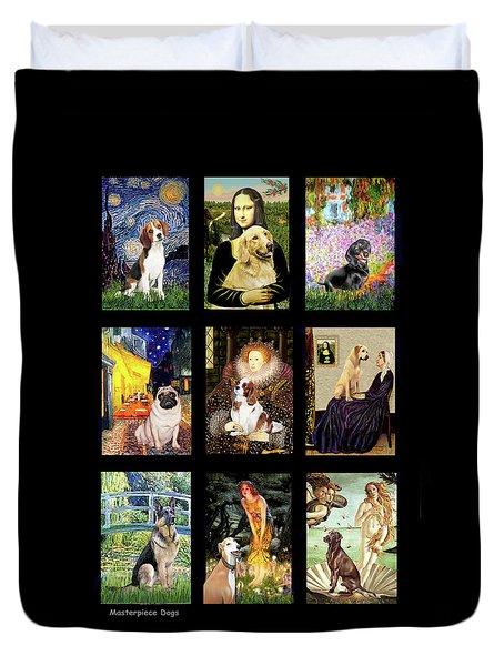 Famous Art Dogs #1 Duvet Cover