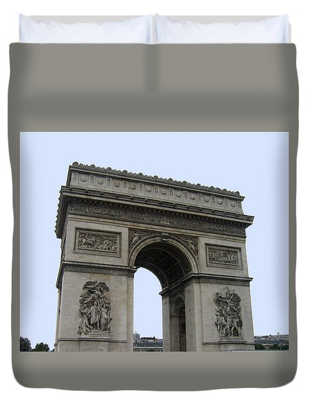 Famous Gate Of Paris - Arc De France Duvet Cover by Suhas Tavkar