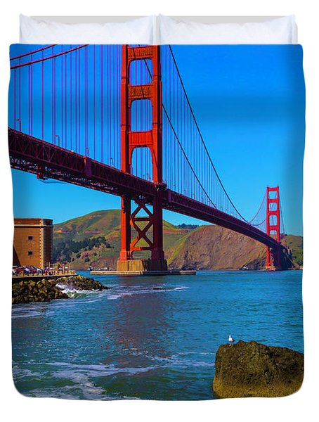 Famous Golden Gate Bridge Duvet Cover