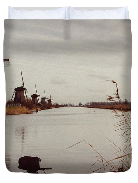 Famous Windmills At Kinderdijk, Netherlands Duvet Cover
