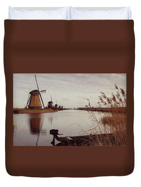 Famous Windmills At Kinderdijk, Netherlands Duvet Cover