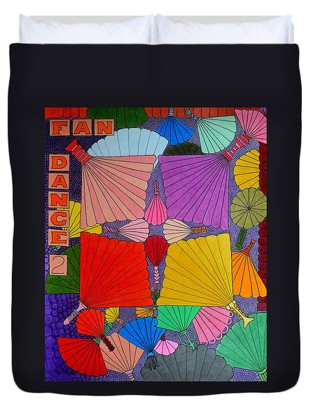 Fan Dance 2 Duvet Cover