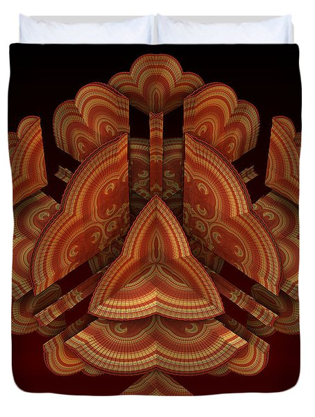 Duvet Cover featuring the digital art Fan Dance by Lyle Hatch