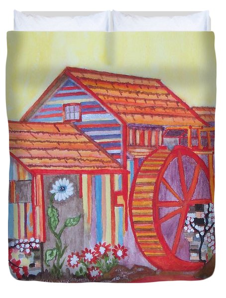 Fanasty Waterwheel Duvet Cover by Connie Valasco