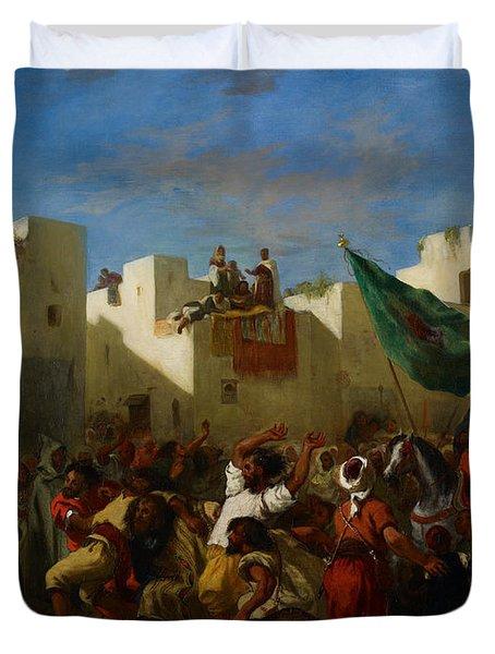 Fanatics Of Tangier Duvet Cover
