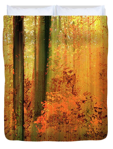 Duvet Cover featuring the photograph Fanciful Forest by Jessica Jenney