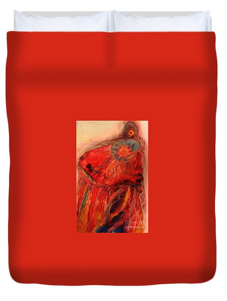 Fancy Shawl Dancer Duvet Cover