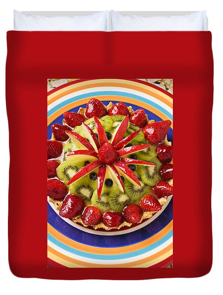 Fancy Tart Pie Duvet Cover by Garry Gay