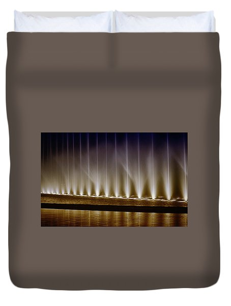 Fanfare Fountains Duvet Cover by Joseph Hollingsworth