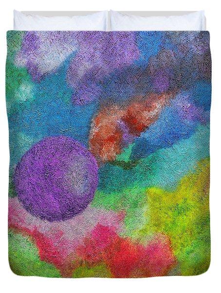 Fanospherelia Duvet Cover by Rachel Hannah