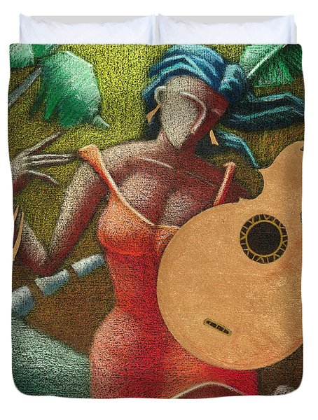 Fantasia Boricua Duvet Cover