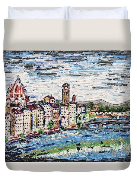 Fantastic Florence Italy Duvet Cover