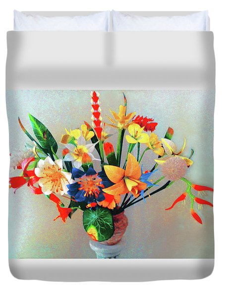 Fantastic Flowers Of The South Pacific Duvet Cover