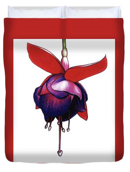 Fantastic Fuchsia Duvet Cover by Mary Ellen Frazee