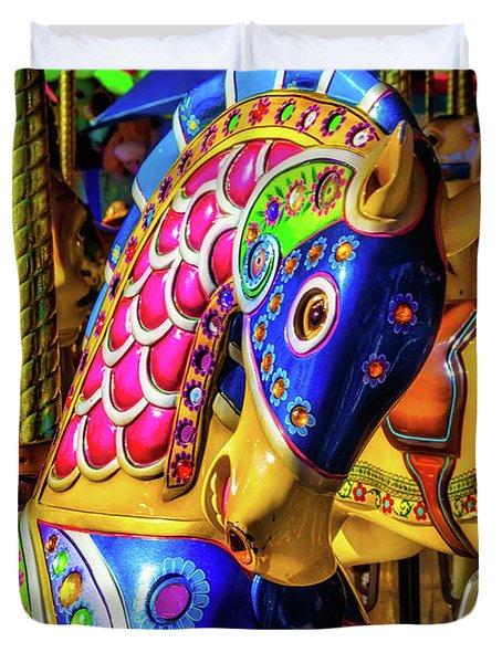 Fantasy Carrousel Ride Duvet Cover