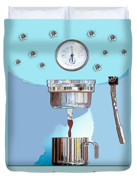 Fantasy Espresso Machine Duvet Cover