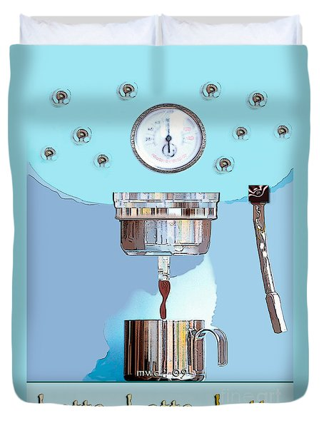 Fantasy Espresso Machine Duvet Cover