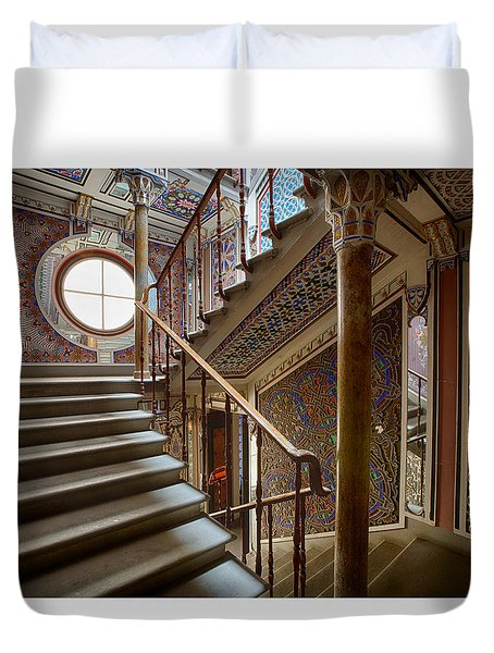 Fantasy Fairytale Palace - The Stairs Duvet Cover
