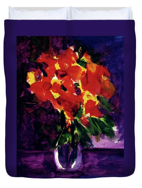 Fantasy Flowers  #107, Duvet Cover by Donald k Hall