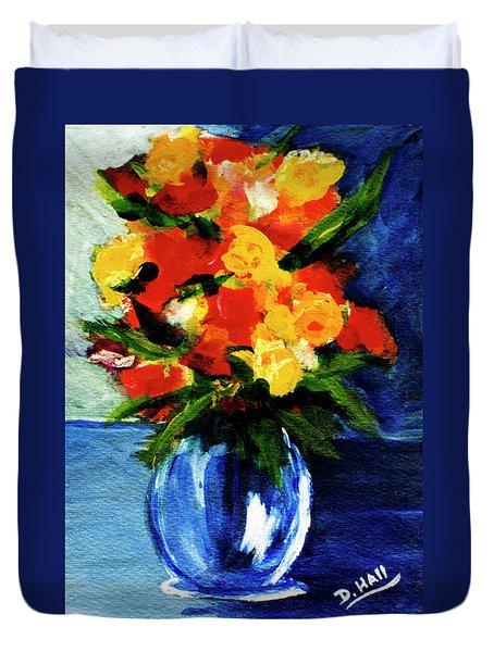 Fantasy Flowers #117 Duvet Cover by Donald k Hall