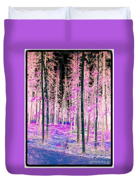 Fantasy Forest Duvet Cover by Linda Bianic