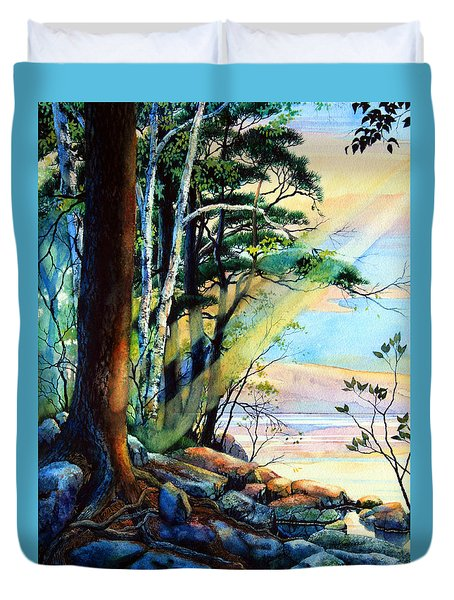 Fantasy Island Duvet Cover by Hanne Lore Koehler