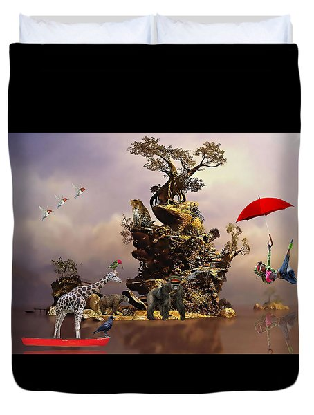 Fantasy Island Resorts Collection Duvet Cover