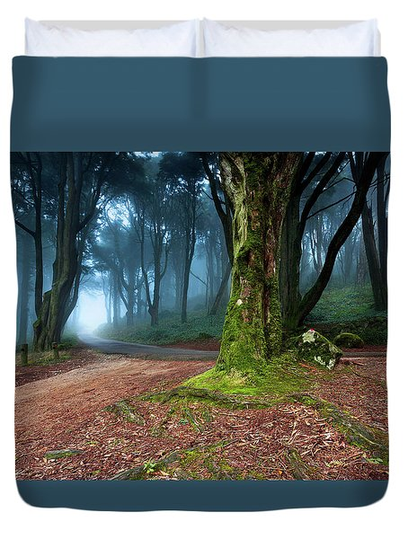 Duvet Cover featuring the photograph Fantasy by Jorge Maia