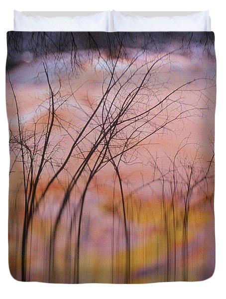 fantasy landscape trees - Fleeting Forest Duvet Cover