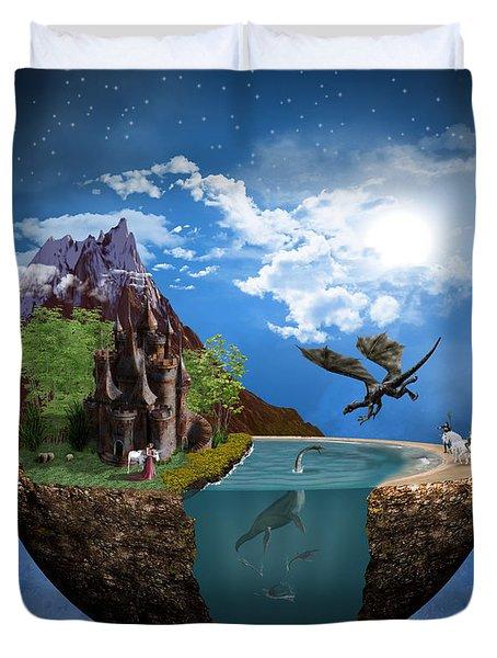 Fantasy Planet 1 Duvet Cover