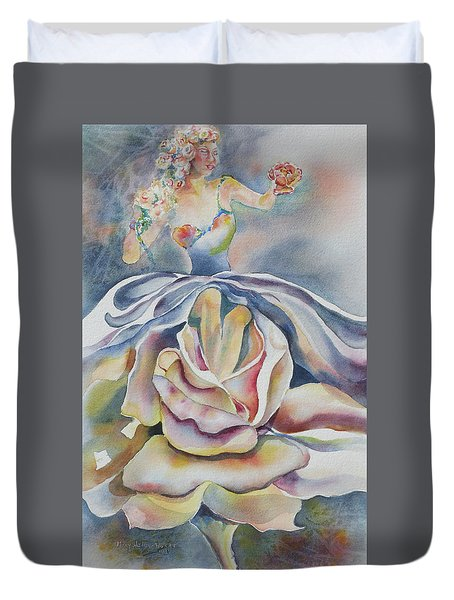 Fantasy Rose Duvet Cover by Mary Haley-Rocks