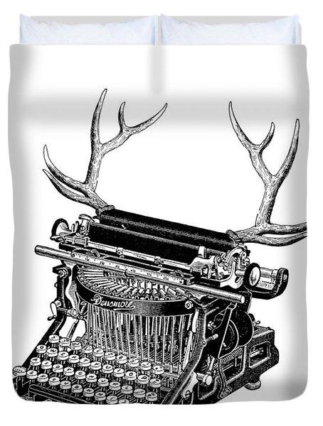 Fantasy Typewriter Duvet Cover