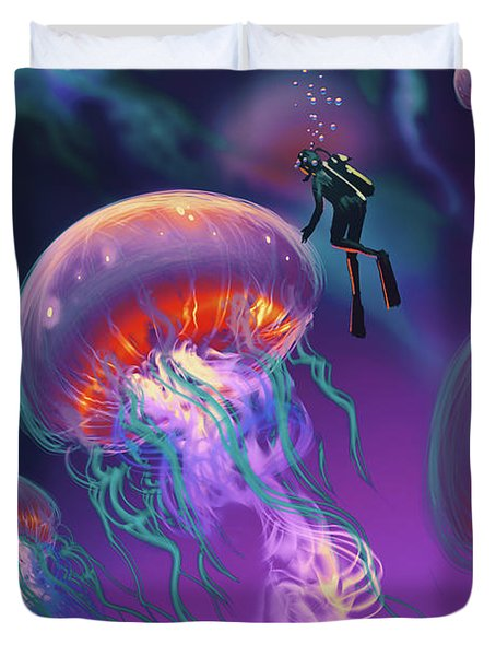 Fantasy Underworld Duvet Cover
