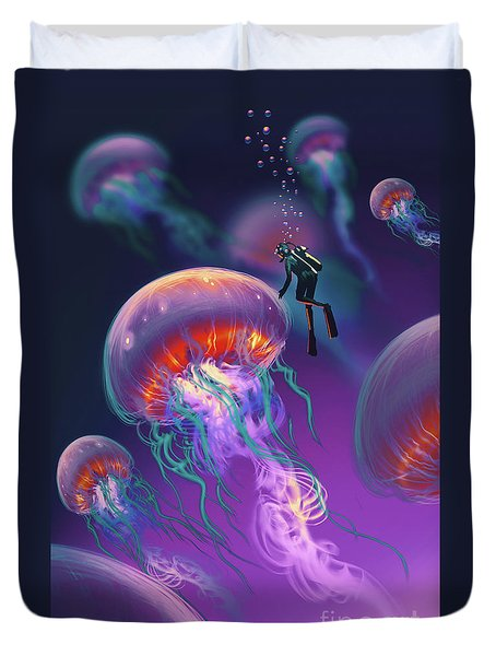 Fantasy Underworld Duvet Cover