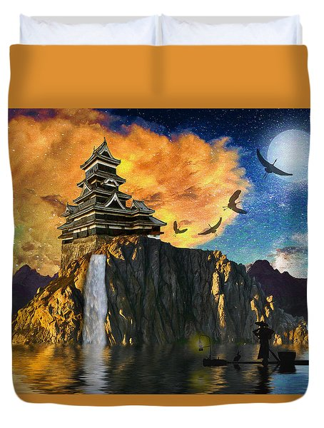 Far Away To The East Duvet Cover