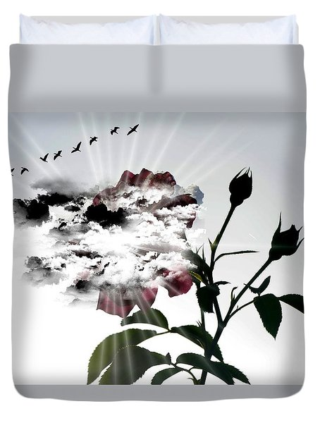 Far Beyond What Eyes Can See Duvet Cover
