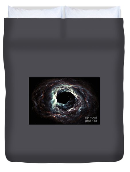 Duvet Cover featuring the digital art Far From Void by Michal Dunaj