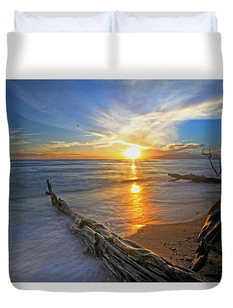 Far Out To Sea Duvet Cover
